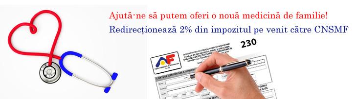Doneaza 2% din impozitul pe venit pentru Centrul National de Studii pentru Medicina Familiei